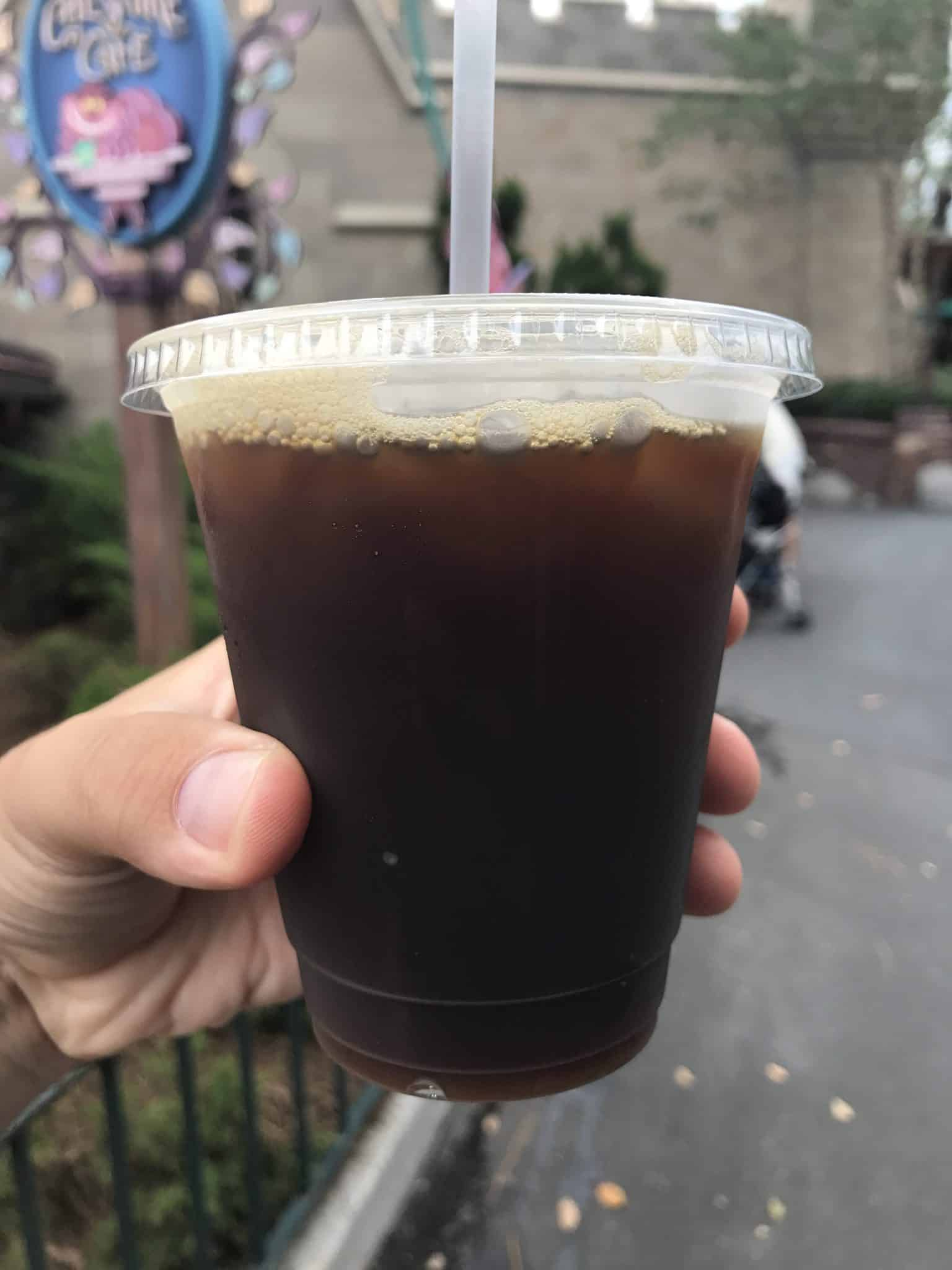 REVIEW: Cheshire Cat Tails & Cold Brew Coffee Magically Appear at Cheshire Cafe at the Magic Kingdom