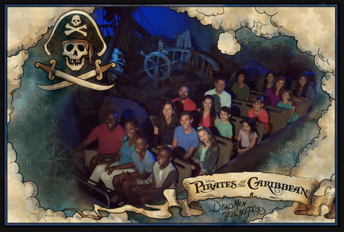 Pirates of the Caribbean on-ride photo at the Magic Kingdom