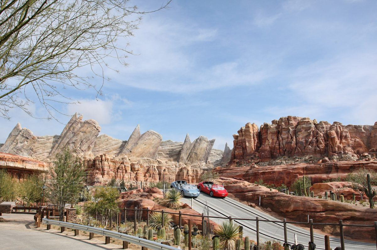 Radiator Springs Racers in Cars Land, Disney California Adventure
