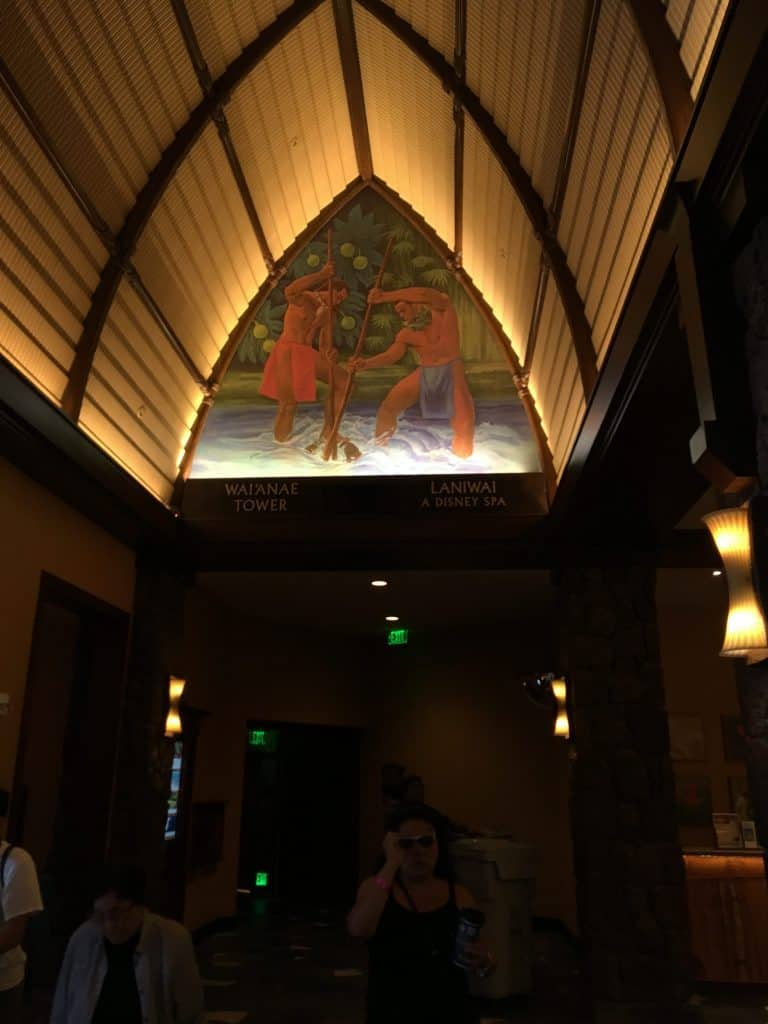 The painting for the Wai'anae Tower at The Aulani
