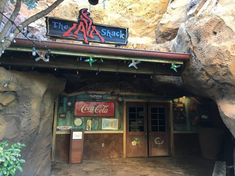 The storefront of The Lava Shack at the Aulani