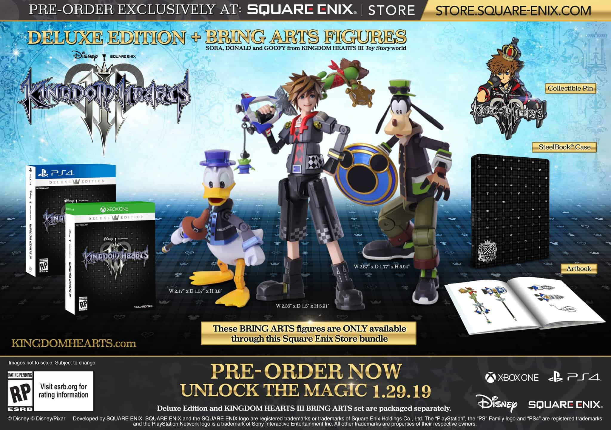 Deluxe edition of Kingdom Hearts 3.