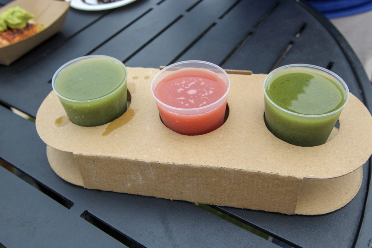 Epcot Food and Wine 2018 Earth Eats Juice Flight