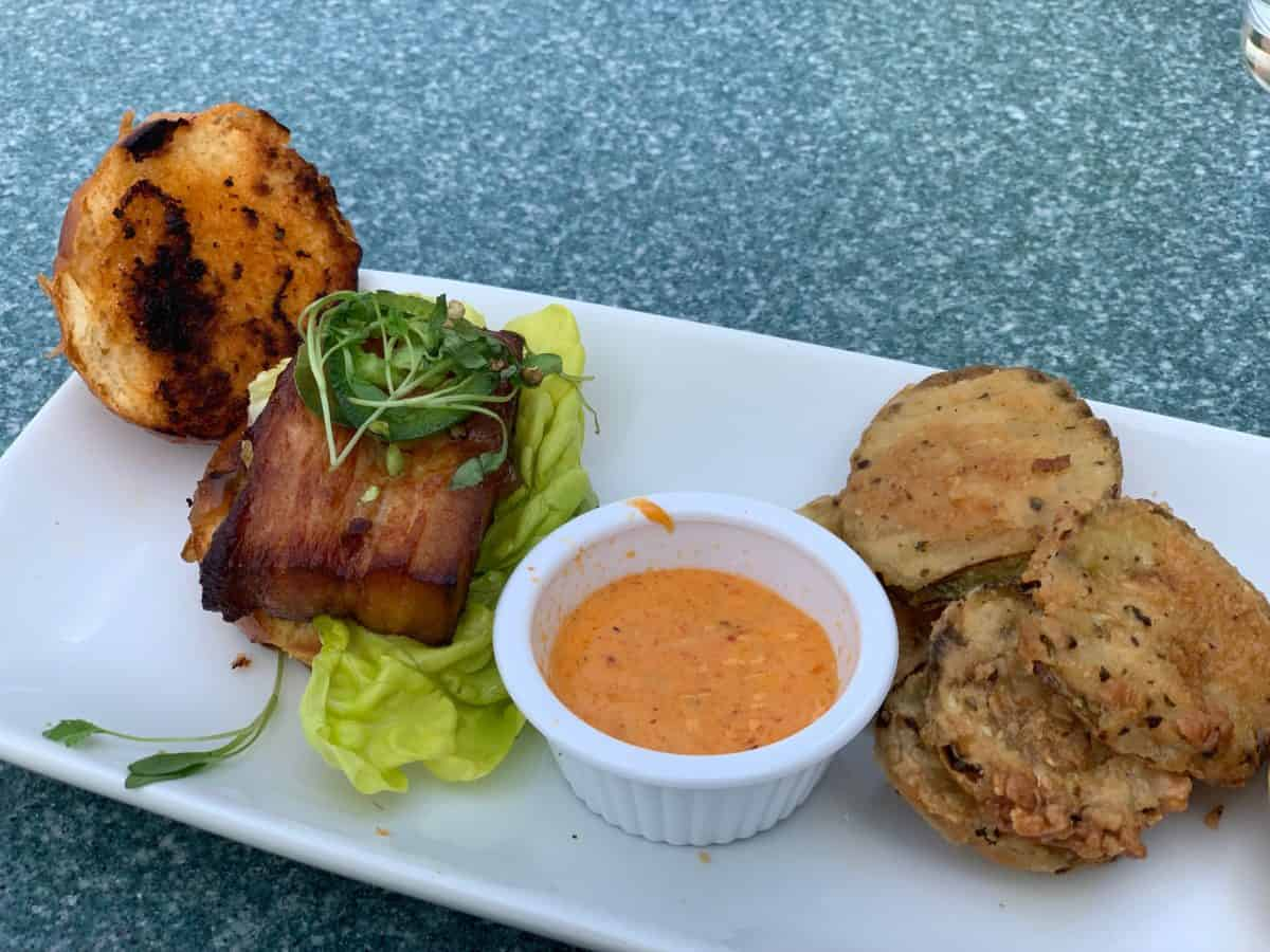 southern pork belly sliders and chocolate lava cake river belle terrace disneyland