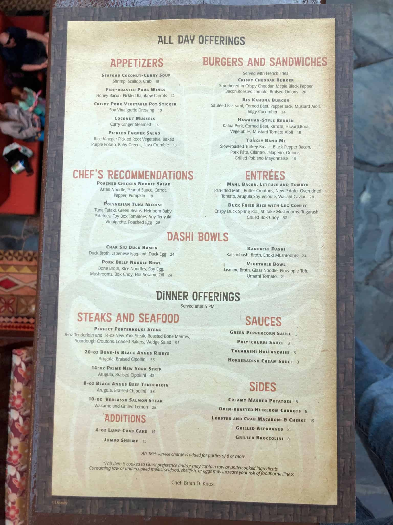 kona menu january 2019 2