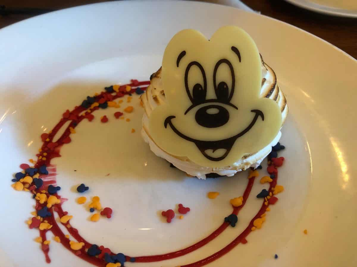 Mickey Themed Pizza Cupcake Baked Alaska Get Your Ears On Celebration Grand Californian Hotel Disneyland Resort