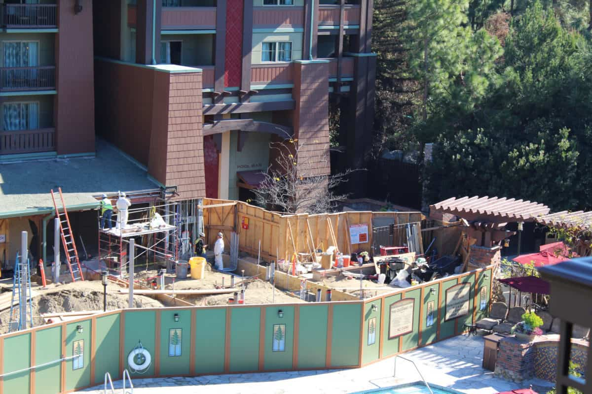 disney's grand california hotel and spa white water snacks and pool bar construction