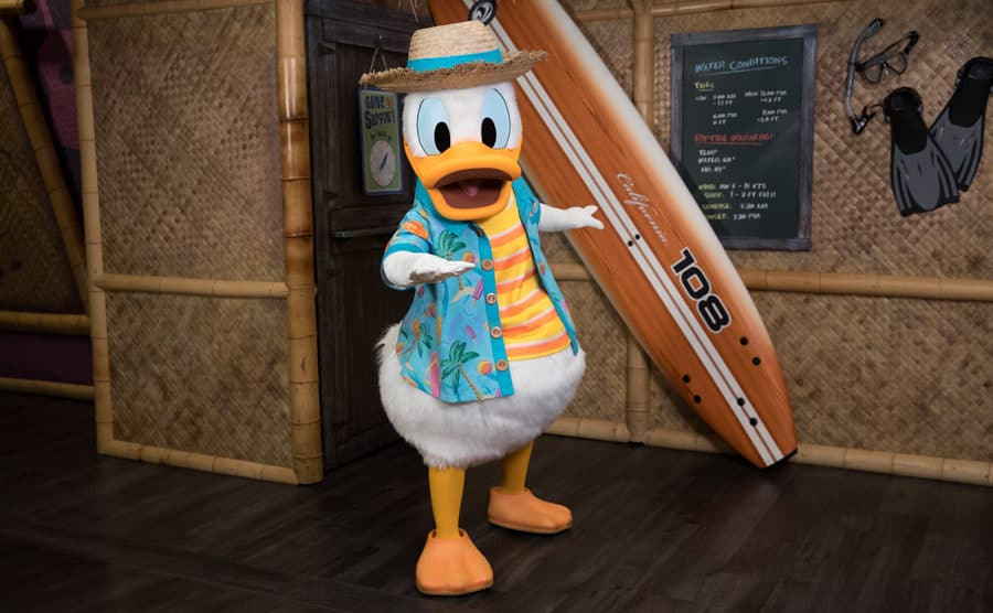 Donald Duck's Seaside Brunch at Disney's PCH Grill at Disney's Paradise Pier Hotel