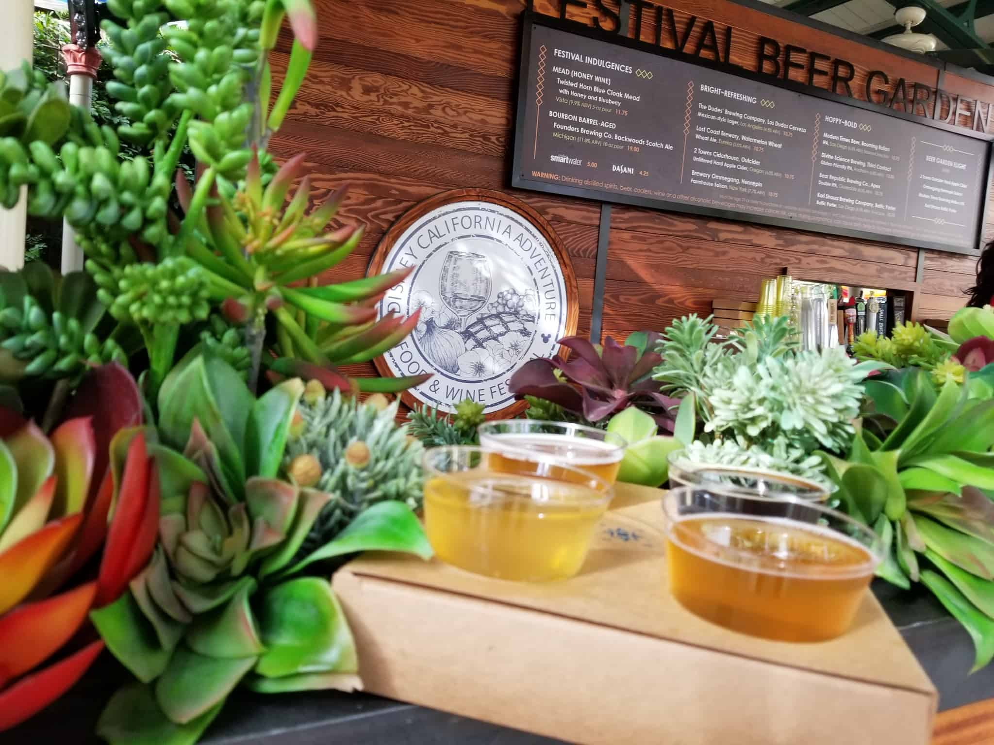 Disneyland Resort Disney California Adventure Food & Wine Festival 2019 beer flight menu