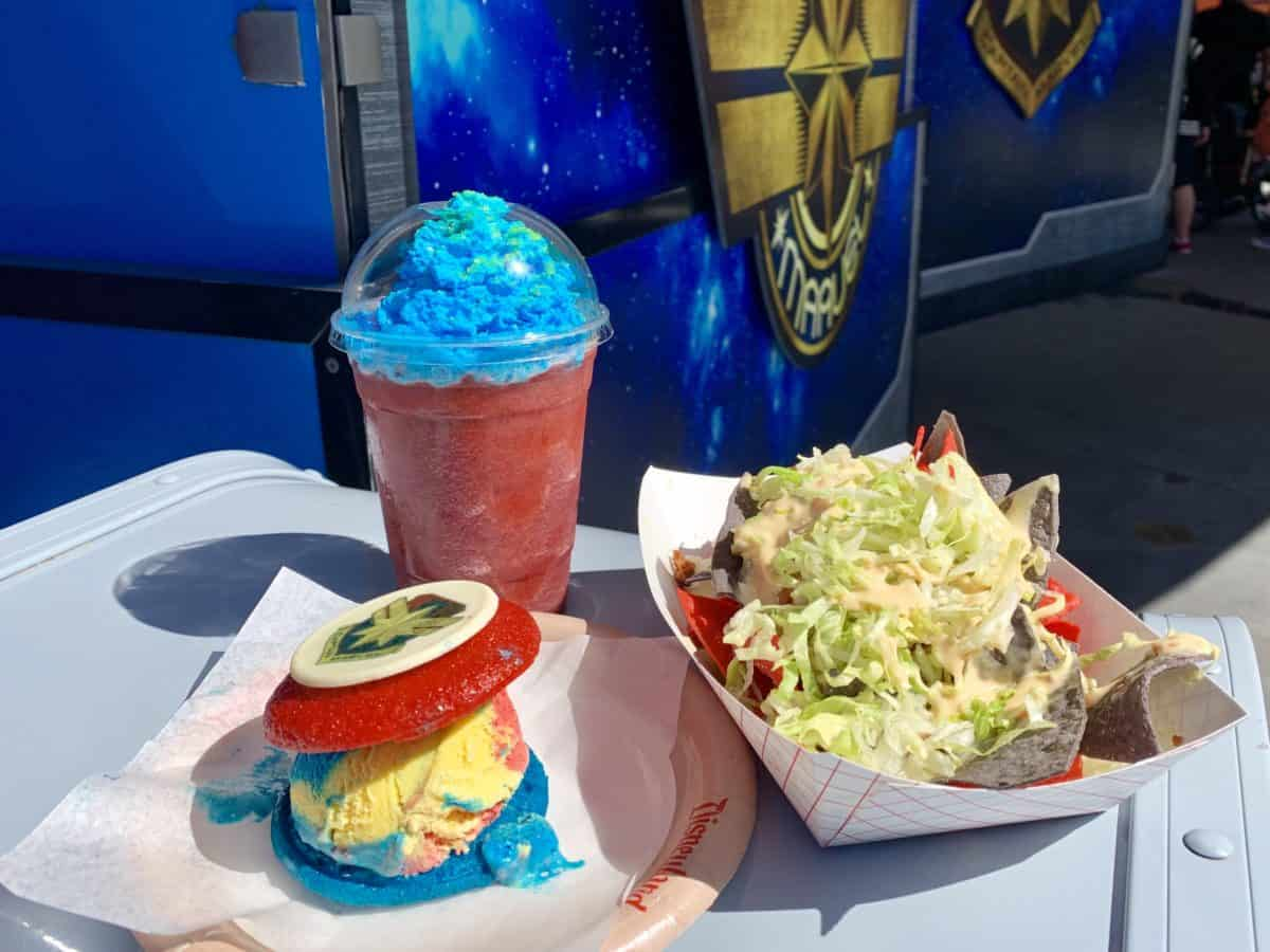 Captain Marvel Specialty Food Items Studio Catering Co. Disney California Adventure