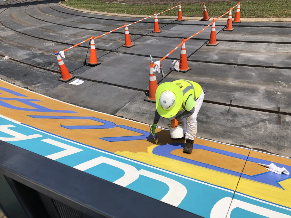 Tomorrowland Speedway Painting and Track Repairs