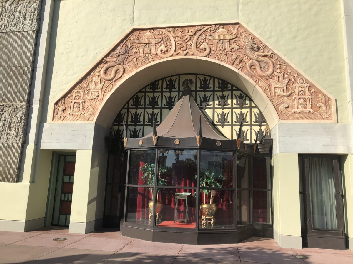 Chinese theater window display