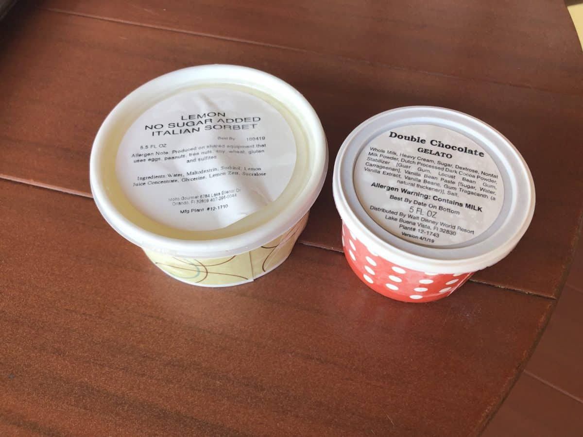 The lids contain ingredient information
