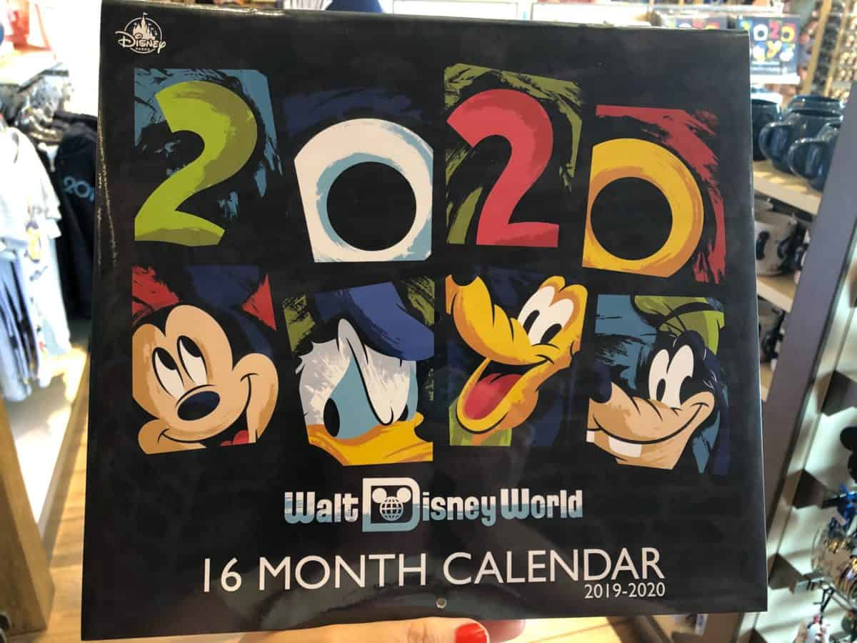 2020 Calendar for Walt Disney World, 16 month