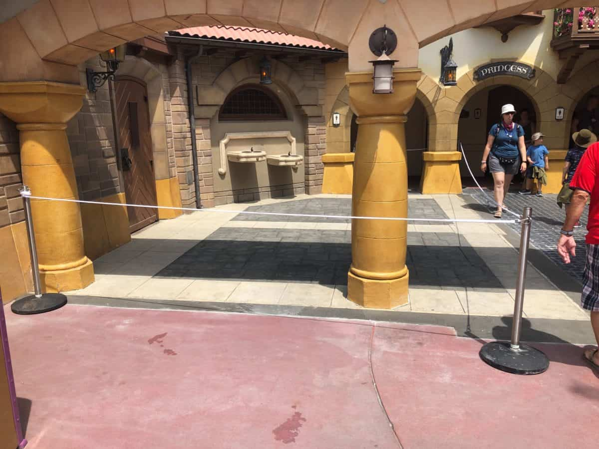 Pinocchio Village Haus Restrooms New Outdoor Pavement