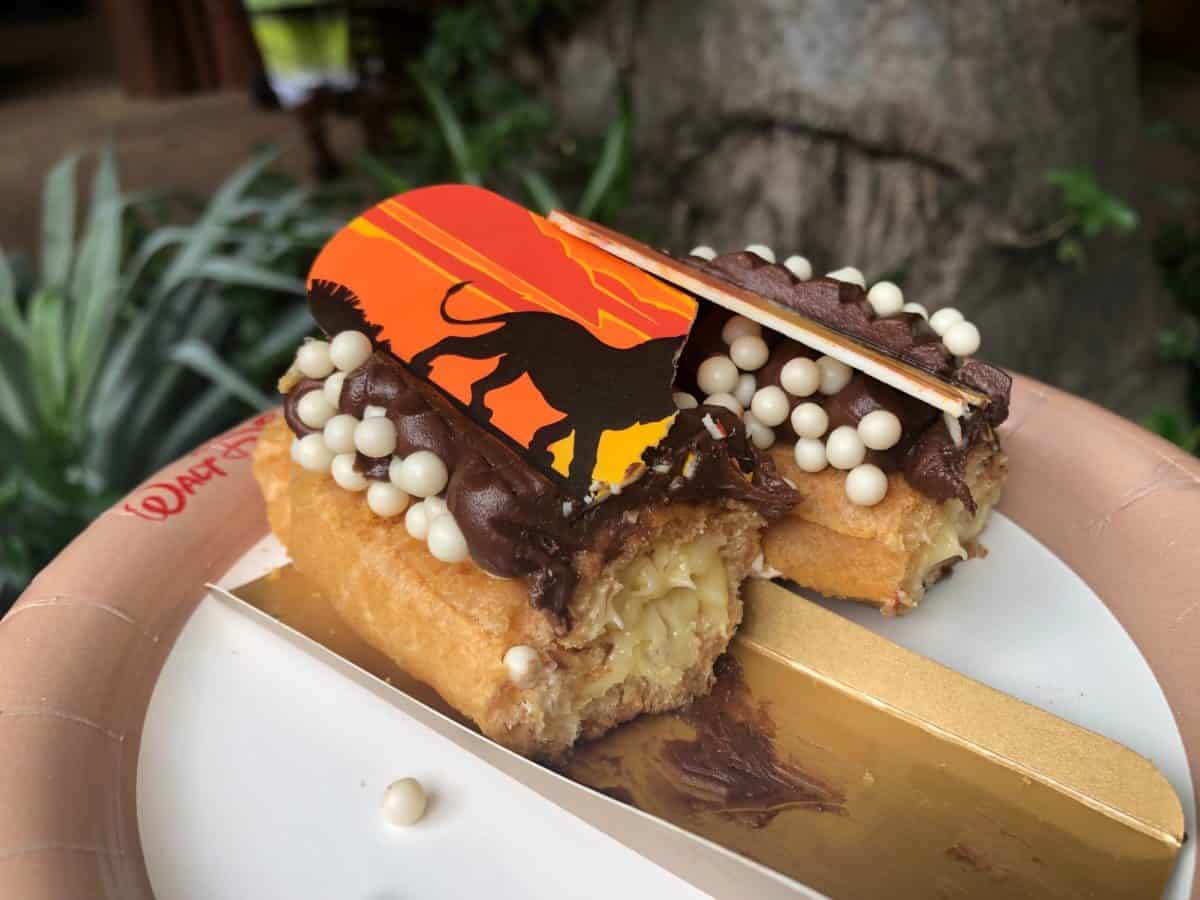 chocolate frosted caramel Lion King eclai