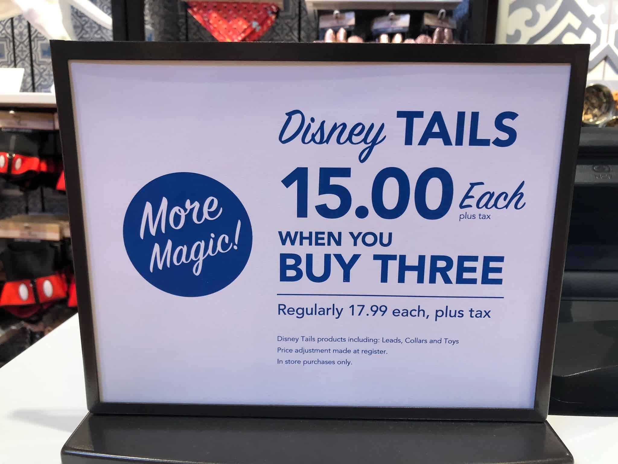 Disney Tails toys and collars on sale