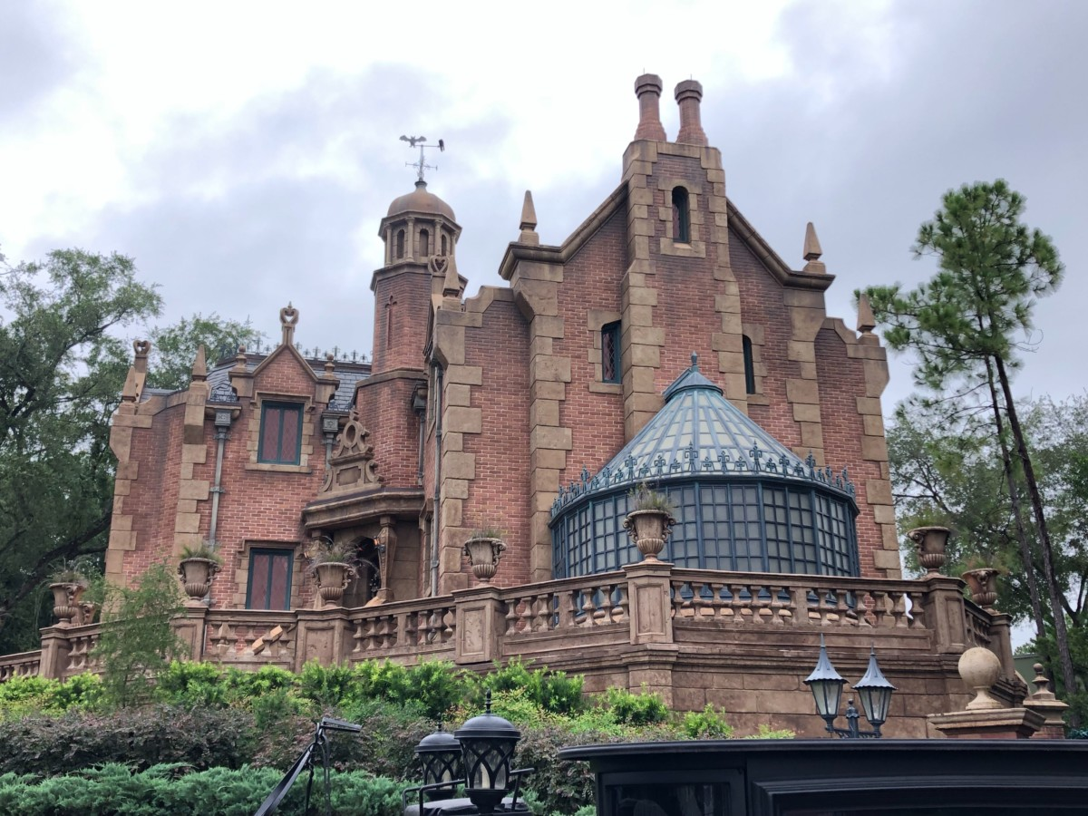 The Haunted Mansion on a rainy day
