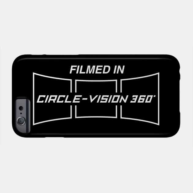 Filmed in Circle Vision 360 Phone Case TeePublic