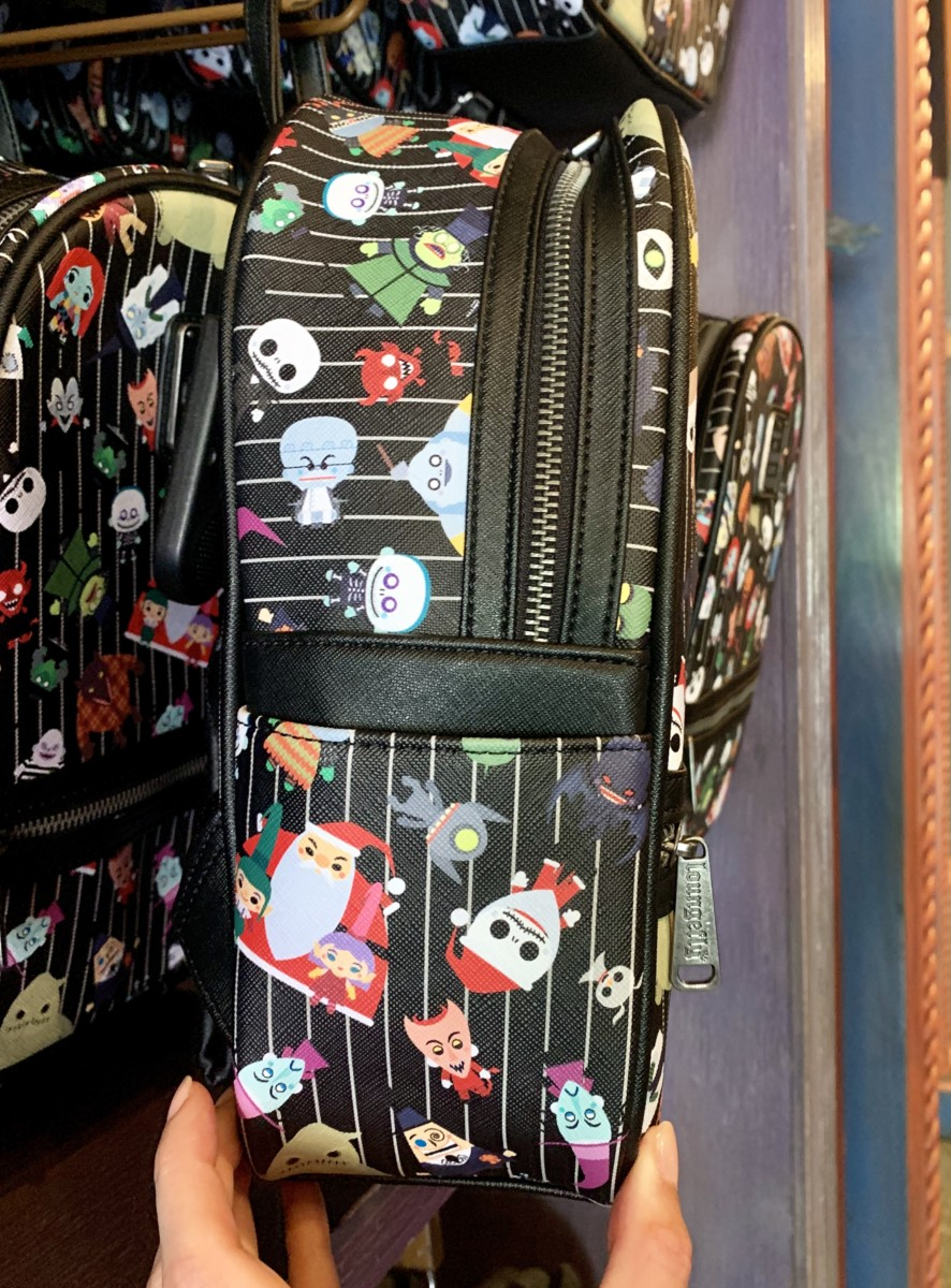 """The Nightmare Before Christmas"" Loungefly Backpack Featuring Citizens of Halloween Town Disneyland Park"