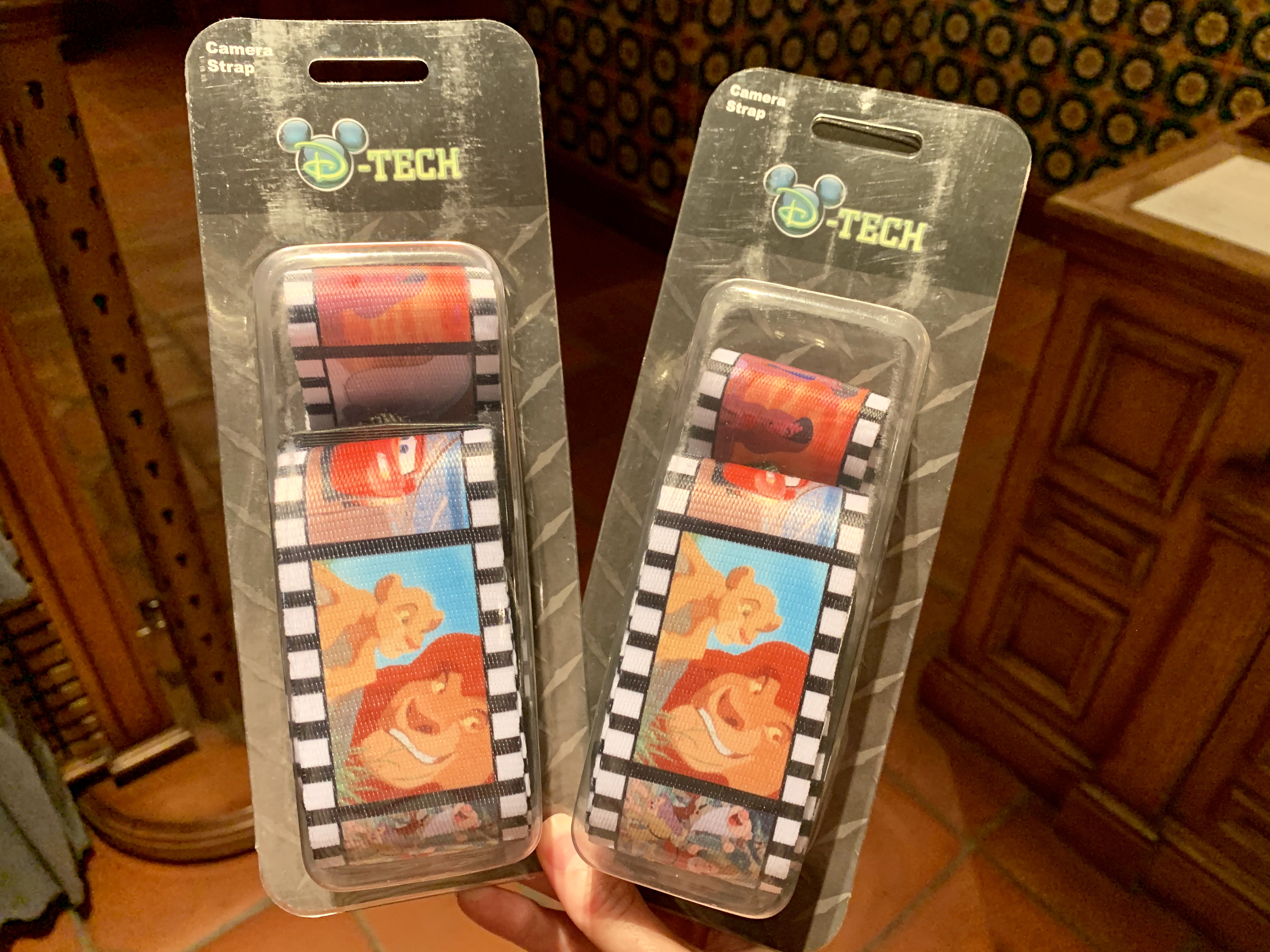 D-Tech Camera Strap Featuring Scenes From Classic Animated Films Disney California Adventure