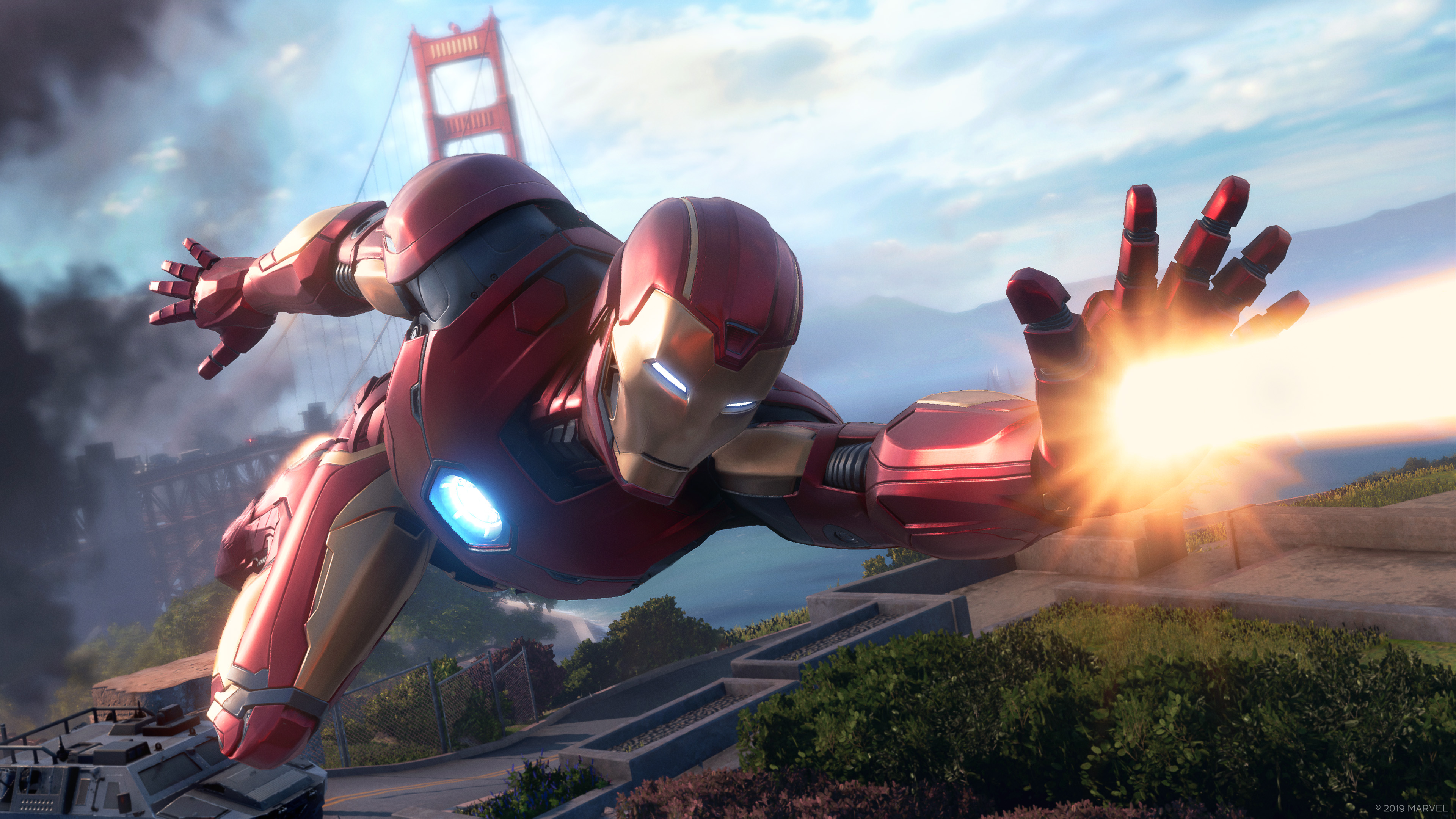 Iron Man flight combat from the 20-minute Gamescom demo for Marvel's Avengers