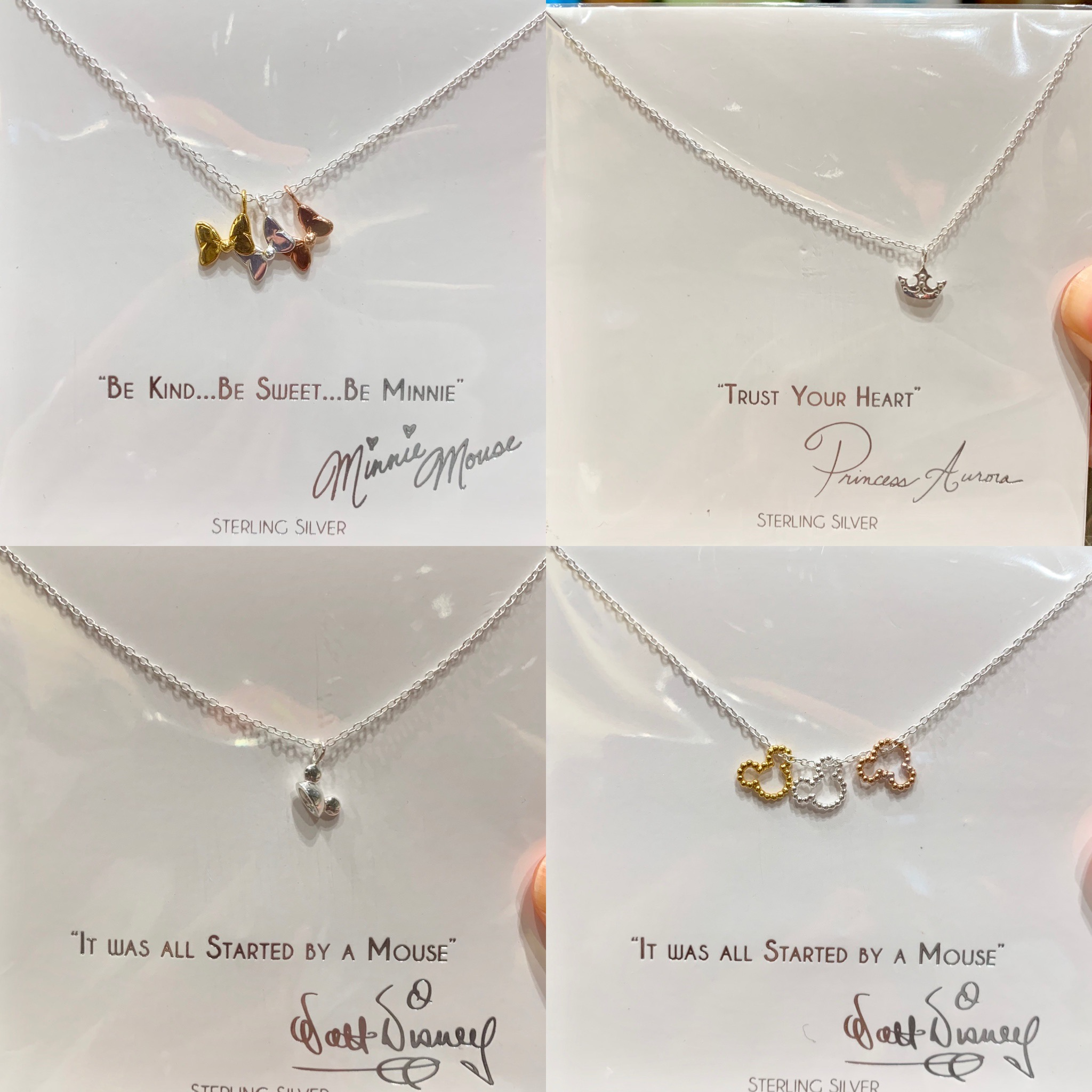 New Sterling Silver Necklaces Disney Parks Collection Jewelry World of Disney Disneyland Resort