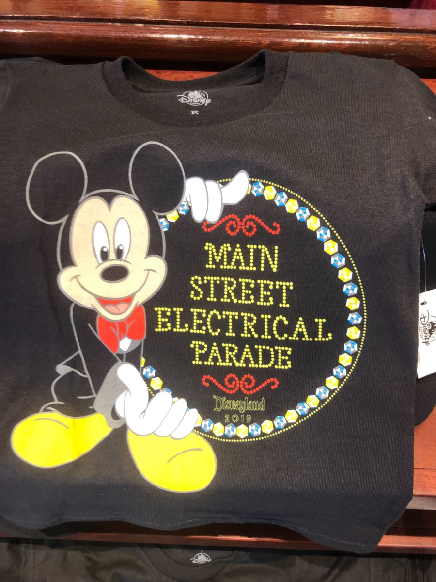 Main Street Electrical Parade Disneyland Merchandise 2019 Mickey Mouse Youth T-Shirt