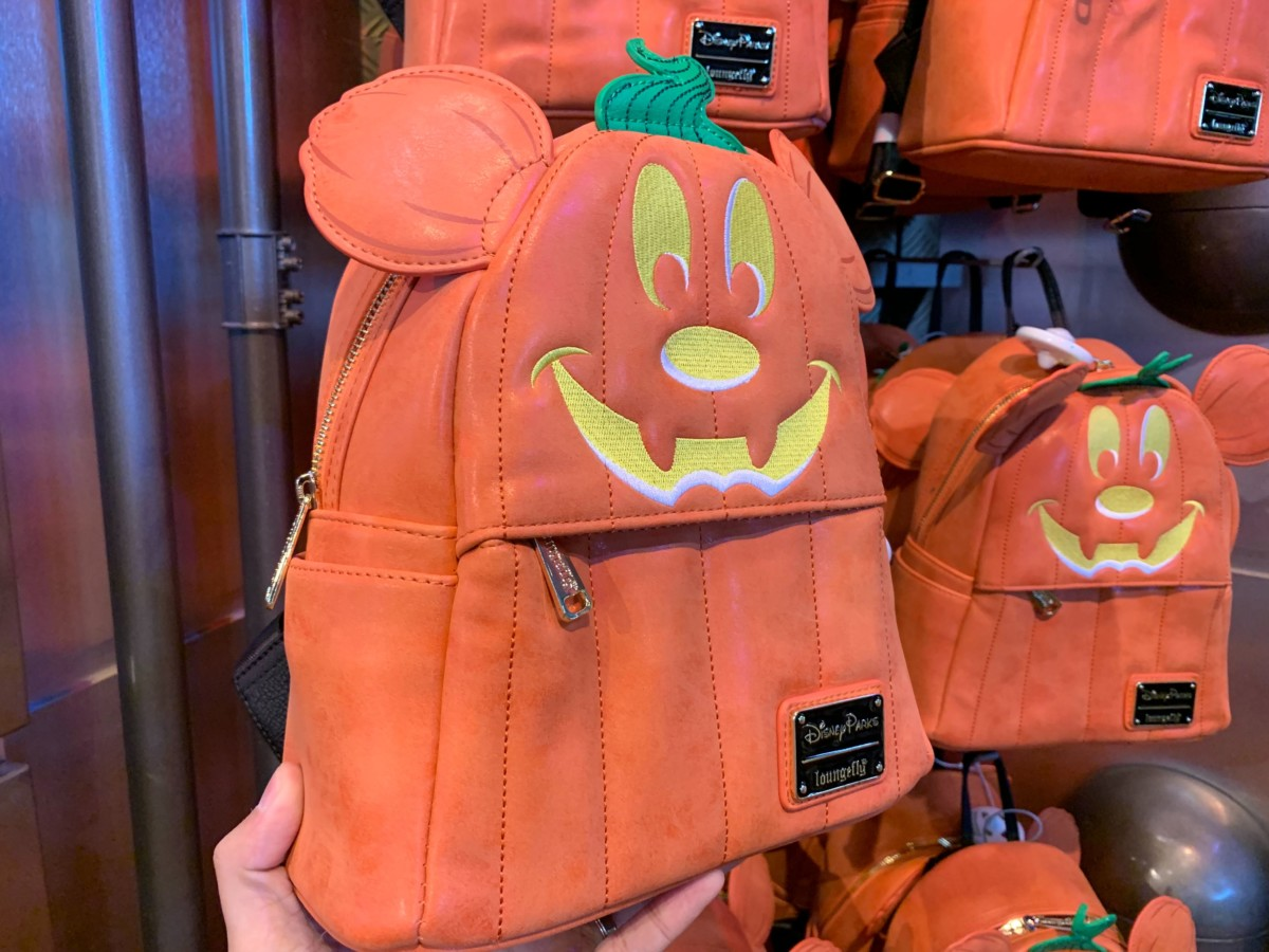Mickey Pumpkin Loungefly Backpack - $80.00