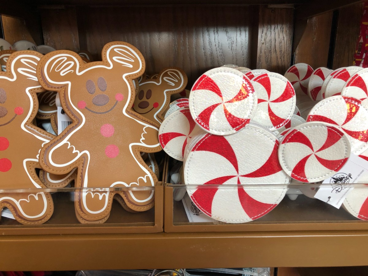 New Candy Cane and Gingerbread Coin Purses Arrive Fresh at Disney Traders at Epcot