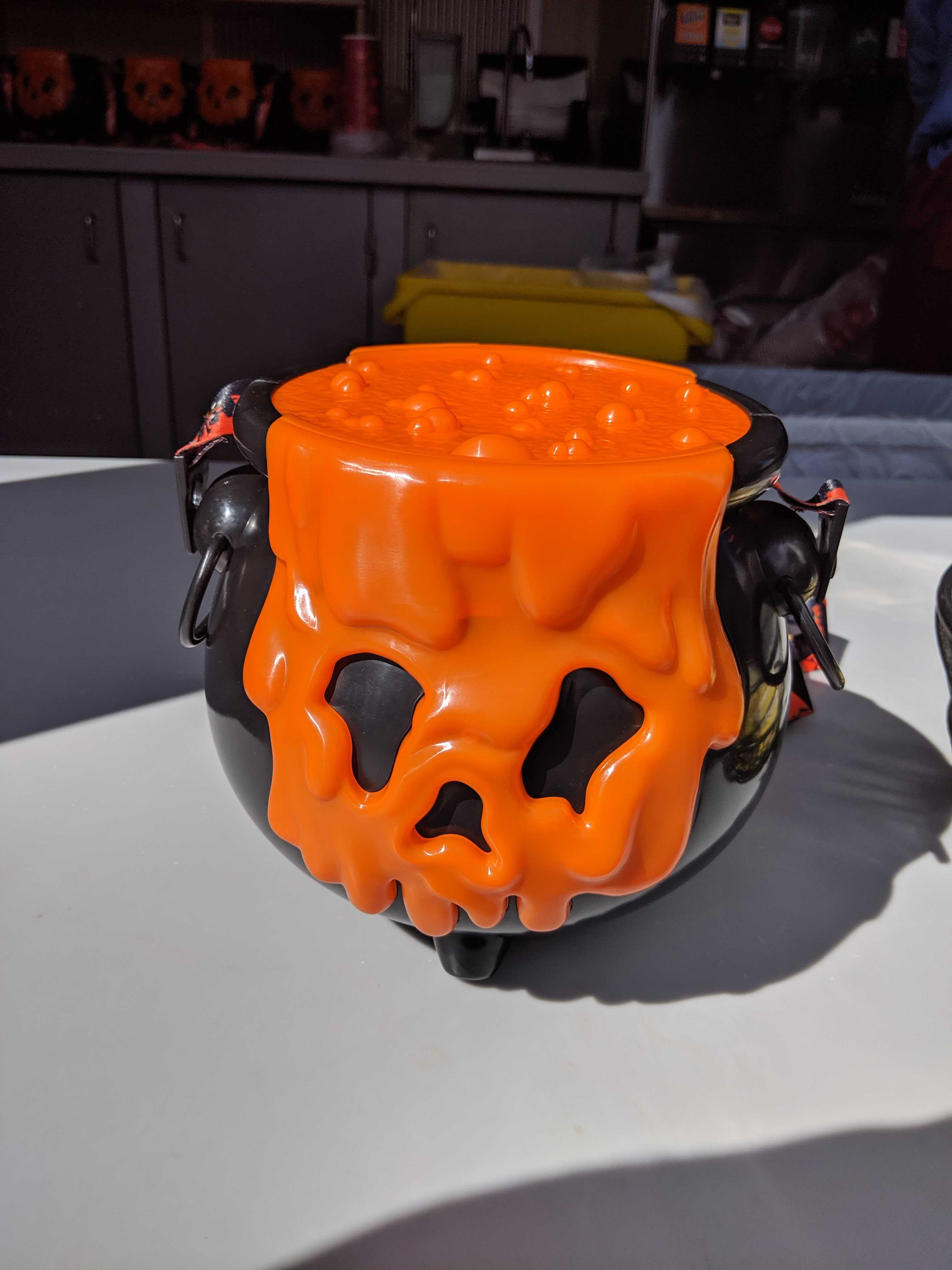 Spooky Orange Cauldron at Hollywood Studios