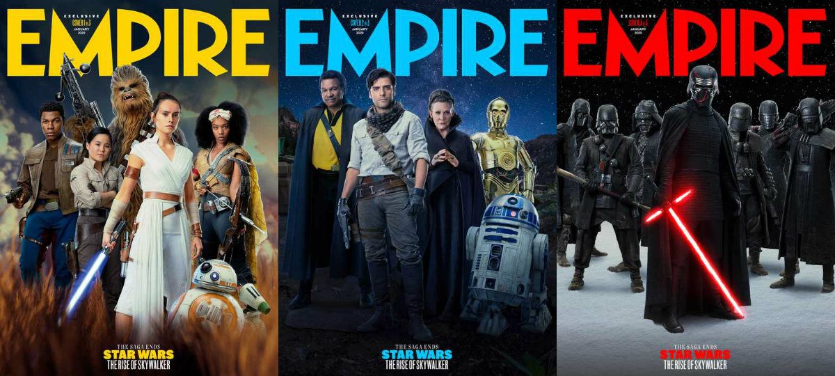 Photos Empire Reveals Exclusive Covers For Their Star Wars The Rise Of Skywalker Issue Wdw News Today