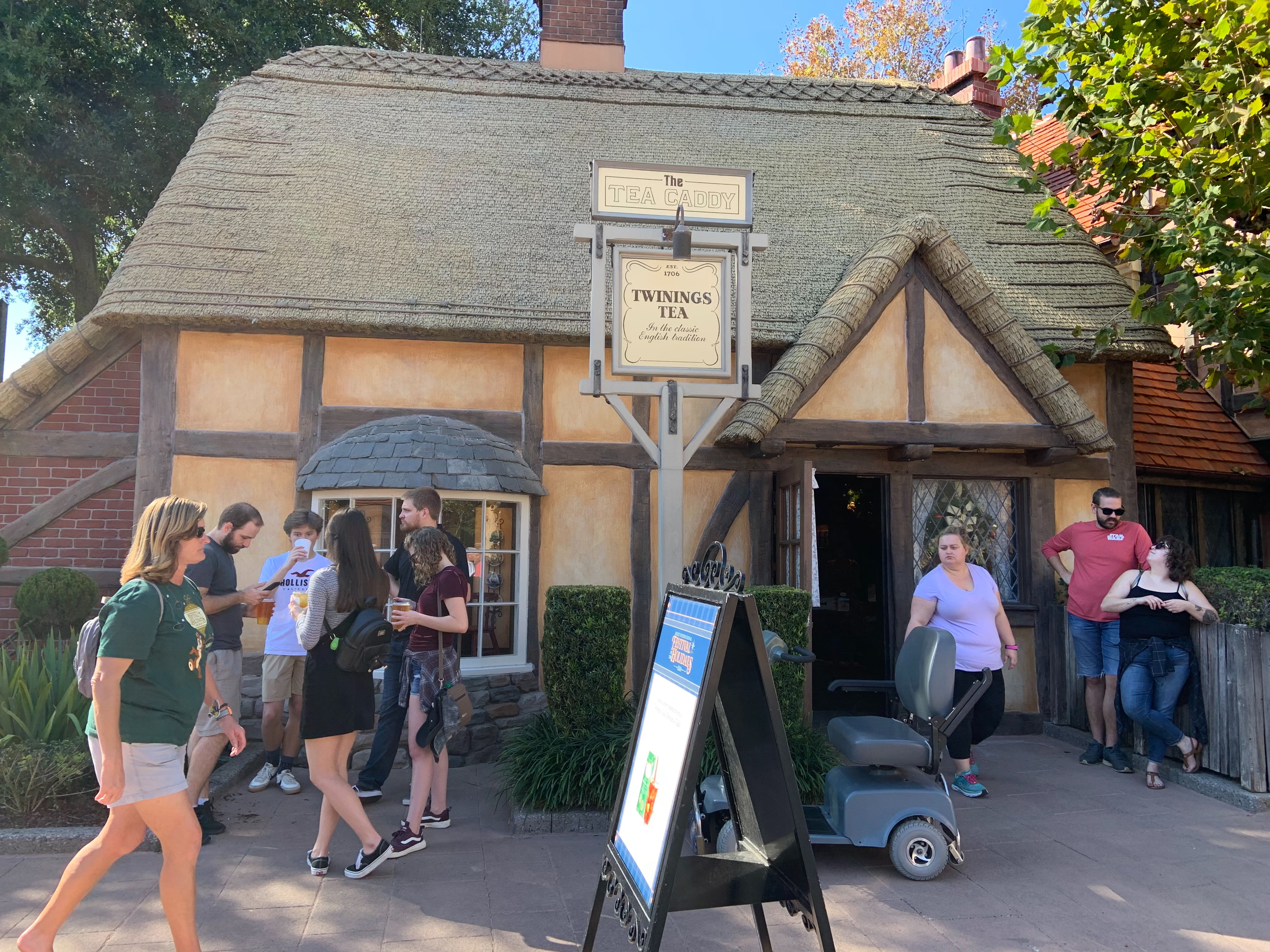 The Tea Caddy at the 2019 EPCOT International Festival of the Holidays