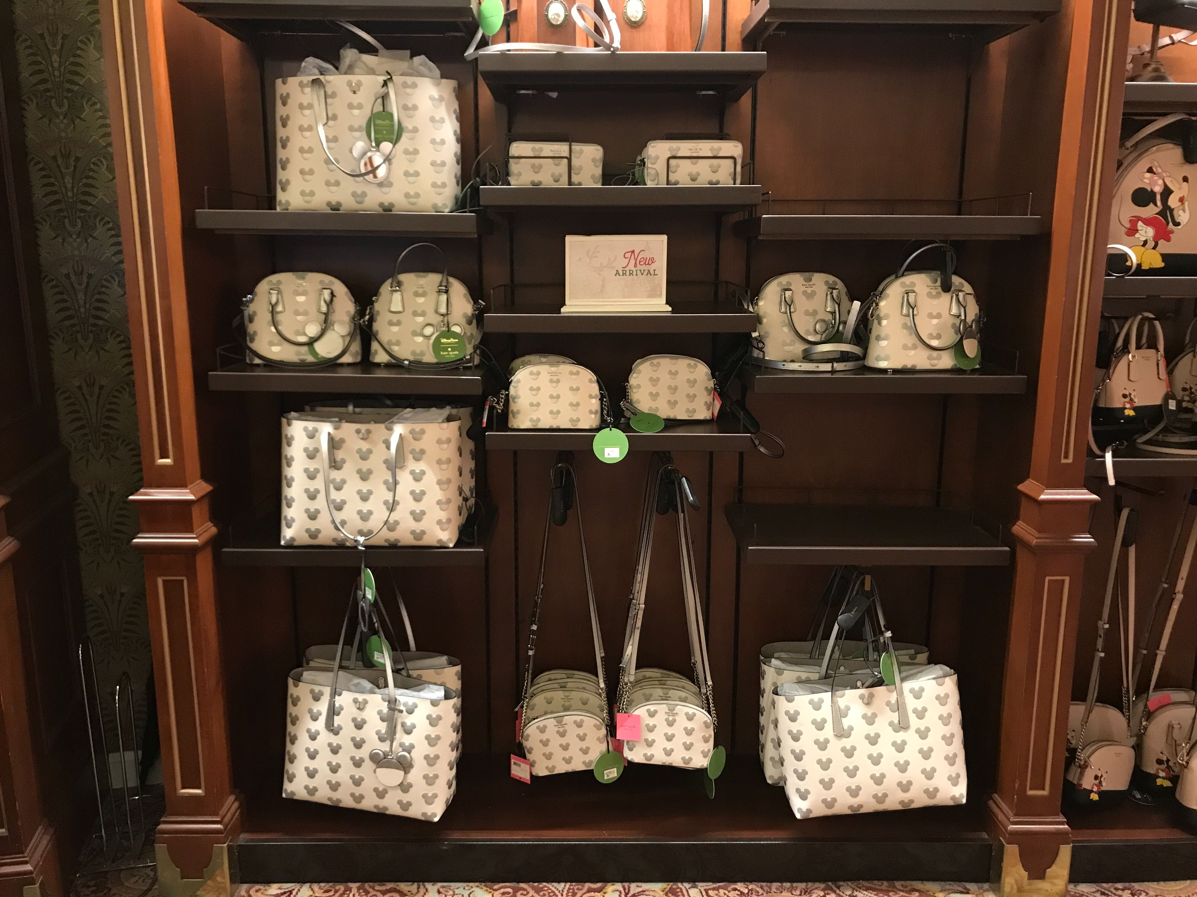 kate spade white and silver collection 2019 mickey disney world
