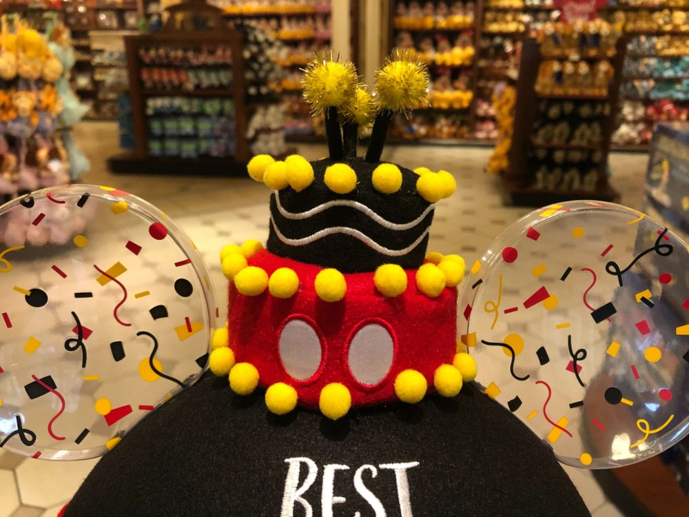 mickey birthday ear hat - top closeup
