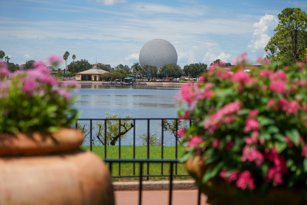 epcot flowers spaceship earth