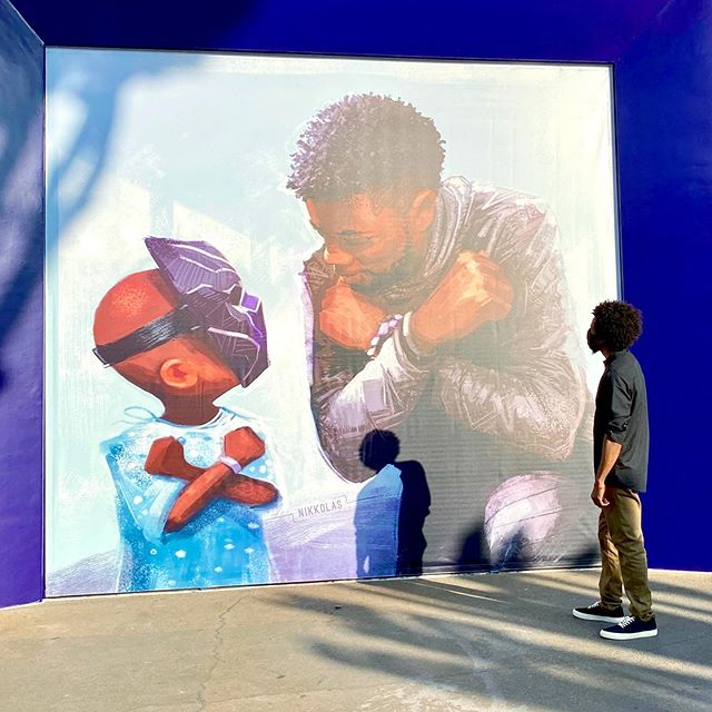 Touching Chadwick Boseman Mural Unveiled in Downtown Disney