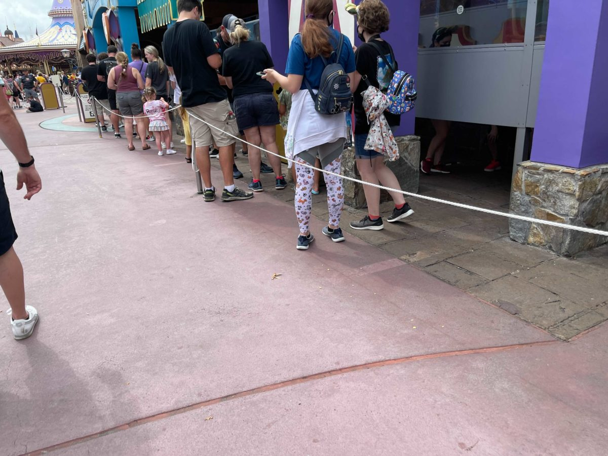 Peter Pan's Flight at the Magic Kingdom has had its extended queue markings remove to minimize social distancing efforts at Walt Disney World