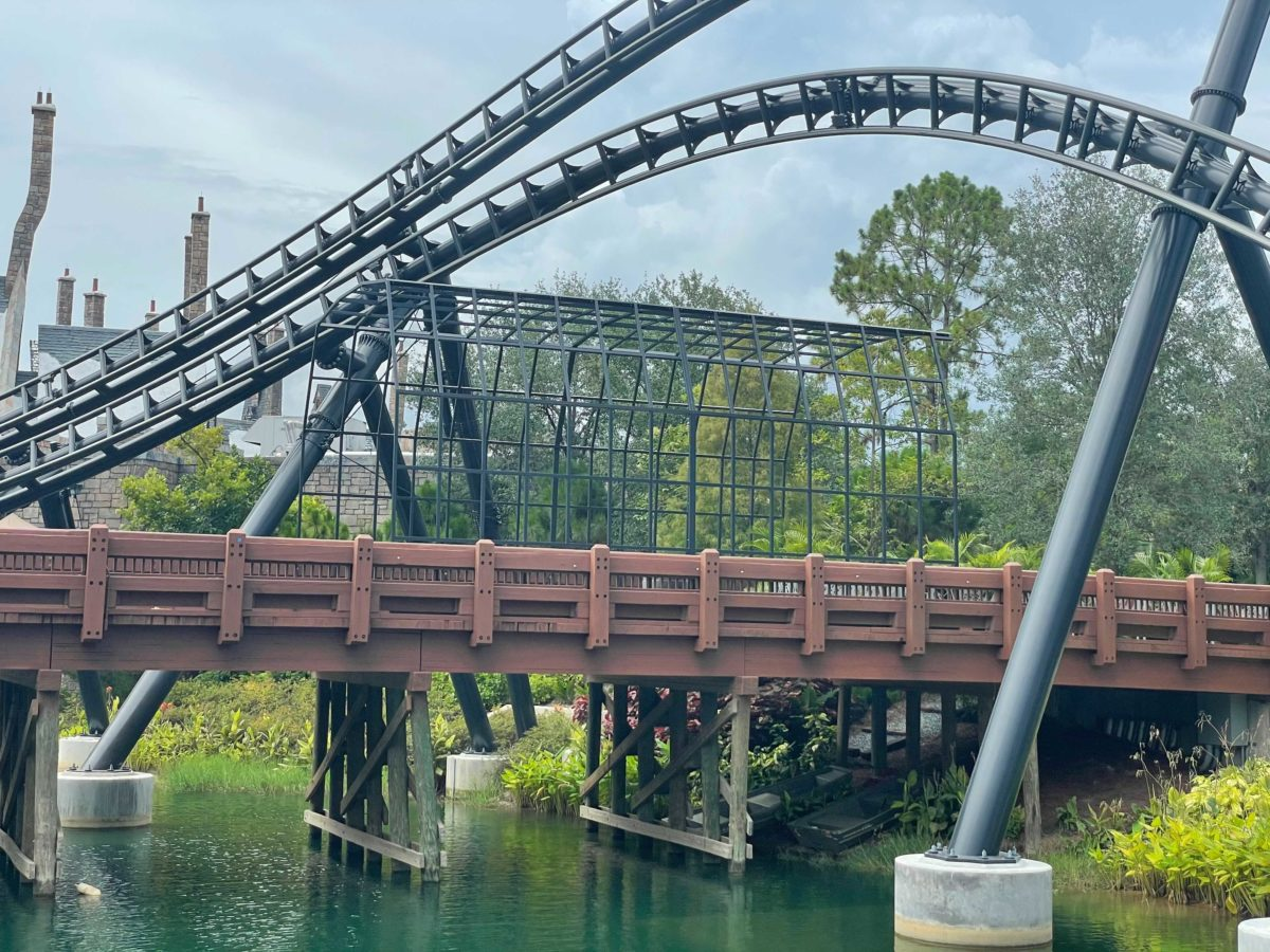 VelociCoaster cage added at Islands of Adventure