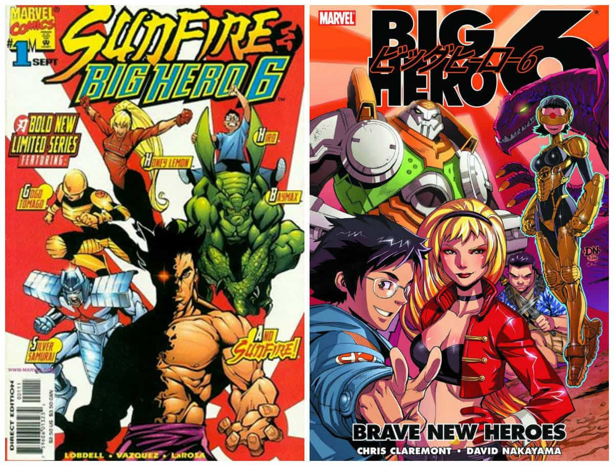 Big Hero 6, the original comics line up